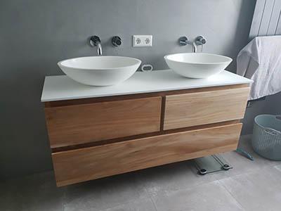 Badkamer meubel teak hout op maat gemaakt 180808