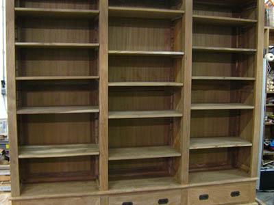 Boekenkast met laden 092311